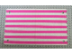 Part No: beltent3  Name: Belville Tent Cloth with Pink Stripes Pattern
