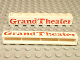 Part No: crssprt01pb07  Name: Brick 1 x 8 without Bottom Tubes with Cross Side Supports with Red 'Grand Theater' Bold Pattern