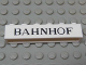 Part No: crssprt02pb57  Name: Brick 1 x 6 without Bottom Tubes with Cross Side Supports with Black 'BAHNHOF' Thin Pattern