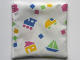 Part No: dupcloth03  Name: Duplo Cloth 4 x 4, Baby Blanket with Toys Pattern (2796)