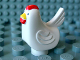 Part No: duphen1pb01  Name: Duplo Chicken, Hen Tail, Smooth Comb, without Base