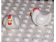 Part No: duphenoldpb01  Name: Duplo Chicken, Hen Tail, Smooth Comb, without Base, Old Style