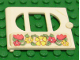 Part No: fabak3pb04  Name: Fabuland Door with Oval pane in 3 sections with Flowers Pattern (Sticker) - Set 3635