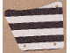 Part No: sailbb01  Name: Cloth Sail 9 x 11, 3 Holes with Black Stripes Pattern