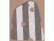 Part No: sailbb13  Name: Cloth Sail 3 with Dark Gray Stripes Pattern, Damage Cutouts