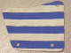 Part No: sailbb27  Name: Cloth Sail 9 x 11, 3 Holes with Blue Stripes Pattern (from 6273)
