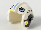Part No: x164pb21  Name: Minifigure, Headgear Helmet SW Rebel Pilot with Bright Light Blue Rebel Logo and Dark Bluish Gray Sides Pattern