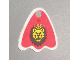 Part No: x375pb01  Name: Minifigure, Cape Cloth, Round Lobes with Royal Knights Lion Head Pattern