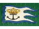 Part No: x376px5  Name: Cloth Flag 8 x 5 Wave with Blue Border and Crown and Anchor Pattern