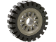Part No: 30155c01  Name: Wheel Spoked 2 x 2 with Pin Hole, with Black Tire Offset Tread (30155 / 3483)