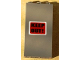 Part No: 3755pb07  Name: Brick 1 x 3 x 5 with Black 'KEEP OUT!'  on Red Background Pattern (Sticker) - Set 7045