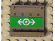 Part No: 4215bpb06  Name: Panel 1 x 4 x 3 - Hollow Studs with Train Logo White on Green Pattern on Inside (Sticker) - Set 4512-1