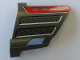 Part No: 44352pb06  Name: Technic, Panel Fairing #22 Large Short, Small Hole, Side A with Vent Holes and Grille Pattern (Sticker) - Set 8454