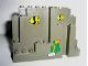 Part No: 6082pb02  Name: Rock Panel 4 x 10 x 6 Rectangular (BURP) with Fish and Sea Grass Pattern (Stickers) - Set 6558