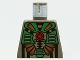 Part No: 973pb0046  Name: Torso Aquazone Stingray Dark Turquoise, Black, and Gold Pattern 3