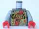 Part No: 973pb0076c01  Name: Torso Space RoboForce Gold Circuitry Pattern / Light Gray Arms / Red Hands