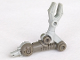 Part No: x300c01  Name: Galidor Limb Arm Nepol/Jens with Light Gray Mechanical Grabber, with 1 Light Gray Pin