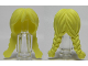 Part No: 13784  Name: Minifigure, Hair Female Long with Braided Pigtails