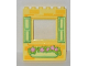 Part No: 15627pb008  Name: Panel 1 x 6 x 6 with Window with Yellowish Green Shutters and Flower Box Pattern