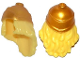 Part No: 17354pb01  Name: Minifigure, Hair Long Wavy with Gold Greek Soldier Helmet Pattern