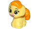 Part No: 24880pb01  Name: Dog, Whisker Haven Tales, Rapunzel's Puppy with Bright Light Orange Bangs and Tail, Lime Eyes and Bright Pink Nose and Tongue Pattern (Daisy)