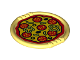 Part No: 27372pb03  Name: Duplo Utensil Disk with Pizza with Salami, Peppers and Olives Pattern