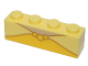 Part No: 3010pb203  Name: Brick 1 x 4 with Yellow Necklace Pattern [Belle]