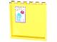 Part No: 59349pb082  Name: Panel 1 x 6 x 5 with Medium Azure and Orange Dots, Milk Carton and Price Pattern on Inside (Sticker) - Set 41005