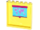 Part No: 59349pb084  Name: Panel 1 x 6 x 5 with World Map Pattern on Inside (Sticker) - Set 41005