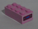 Part No: 3001pb111  Name: Brick 2 x 4 with Car Radio Pattern on End (Sticker) - Set 71006
