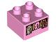 Part No: 3437pb098  Name: Duplo, Brick 2 x 2 with Donuts Box Pattern