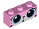 Part No: 3622pb061  Name: Brick 1 x 3 with Cat Face Wide Eyes Puzzled (Unikitty) Pattern