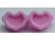 Part No: 93080k  Name: Friends Accessories Glasses, Heart Shaped with Pin