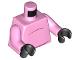 Part No: 973pb3417c01  Name: Torso Pig Dark Pink Stomach Lines (No Tail) Pattern / Bright Pink Arms / Black Hands