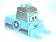 Part No: 13522pb01  Name: Duplo Car Body Forklift Truck with Disney Planes Dottie Pattern