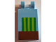 Part No: 30350bpb060  Name: Tile, Modified 2 x 3 with 2 Clips with Minecraft Melon in Ground Pattern