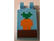 Part No: 30350bpb063  Name: Tile, Modified 2 x 3 with 2 Clips with Minecraft Carrot in Ground Pattern