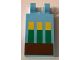 Part No: 30350bpb065  Name: Tile, Modified 2 x 3 with 2 Clips with Minecraft Wheat in Ground Pattern