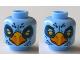 Part No: 3626cpb0862  Name: Minifigure, Head Dual Sided Alien Chima Eagle with Beak, Yellow Eyes, White Pupils / Orange and White Pupils Pattern (Ewald) - Hollow Stud