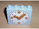 Part No: 4145c02pb01  Name: Duplo, Brick 1 x 4 x 3 with Moveable Gold Hands and Light Purple, Gold and White Clock Face Pattern