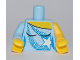 Part No: 973pb0845c01  Name: Torso Ice Skating Costume with White Sequins and Star Pattern / Bright Light Blue Right Arm / Yellow Left Arm / Yellow Hands