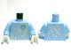 Part No: 973pb1193c01  Name: Torso Ninjago Ice Energy Pattern (NRG Zane) / Bright Light Blue Arms / White Hands