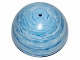 Part No: 98107pb08  Name: Cylinder Hemisphere 11 x 11, Studs on Top with Endor Blue / White Planet Pattern (75010)