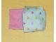 Part No: sleepbag08  Name: Duplo Cloth Sleeping Bag with Orange Crowns and Pink Hearts Pattern