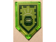 Part No: 22385pb074  Name: Tile, Modified 2 x 3 Pentagonal with Nexo Power Shield Pattern - Blast Mask