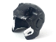 Part No: 10907pb02  Name: Minifigure, Headgear Helmet Space with Open Face and Top Hinge with Silver Edges with Black Marks Pattern (War Machine)