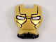 Part No: 10908pb14  Name: Minifigure, Visor Top Hinge with Gold Face Shield, White Eyes, Black Lines on Forehead and Cheeks Pattern