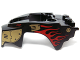 Part No: 11110pb06  Name: Flywheel Fairing Lion Shape with Gold Armor and Red Flames Pattern (70140)