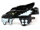 Part No: 11113pb03  Name: Flywheel Fairing Wolf Shape with White Checkerboard and Skunk Markings Pattern (70107)
