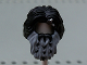 Part No: 11421pb01  Name: Minifigure, Hair Beard Braided, Dark Bluish Gray and Metallic Silver Axe Shard Pattern (Bifur)